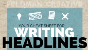 Cheat Sheet Writing Headlines von Feldman Creative